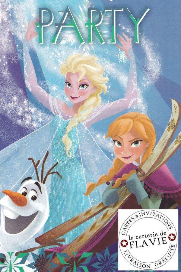 Carte Anniversaire Disney La Reine Des Neiges Carterieflavie